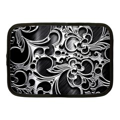 Floral High Contrast Pattern Netbook Case (medium)  by Onesevenart