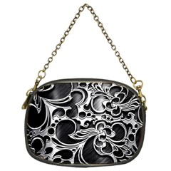 Floral High Contrast Pattern Chain Purses (two Sides)  by Onesevenart