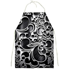 Floral High Contrast Pattern Full Print Aprons by Onesevenart