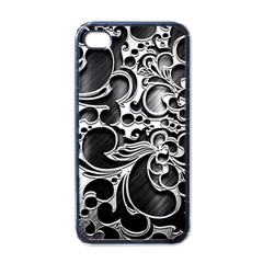 Floral High Contrast Pattern Apple Iphone 4 Case (black) by Onesevenart