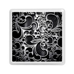 Floral High Contrast Pattern Memory Card Reader (square)  by Onesevenart