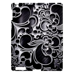 Floral High Contrast Pattern Apple Ipad 3/4 Hardshell Case by Onesevenart