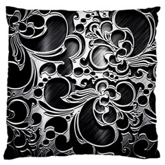 Floral High Contrast Pattern Large Cushion Case (one Side) by Onesevenart