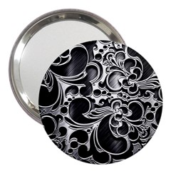 Floral High Contrast Pattern 3  Handbag Mirrors by Onesevenart