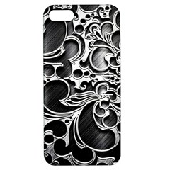Floral High Contrast Pattern Apple Iphone 5 Hardshell Case With Stand by Onesevenart