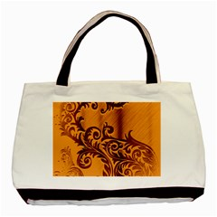 Floral Vintage  Basic Tote Bag by Onesevenart