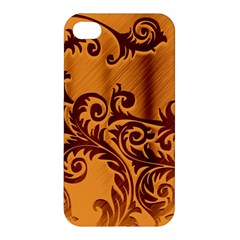 Floral Vintage  Apple Iphone 4/4s Premium Hardshell Case by Onesevenart