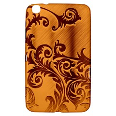 Floral Vintage  Samsung Galaxy Tab 3 (8 ) T3100 Hardshell Case  by Onesevenart