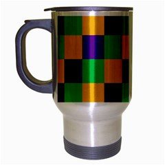 Mardi Gras Checkers Travel Mug (silver Gray) by PhotoNOLA