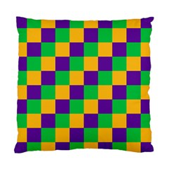 Mardi Gras Checkers Standard Cushion Case (two Sides) by PhotoNOLA