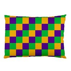 Mardi Gras Checkers Pillow Case (two Sides) by PhotoNOLA