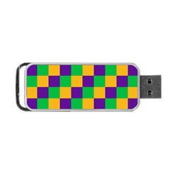 Mardi Gras Checkers Portable Usb Flash (one Side) by PhotoNOLA
