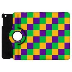 Mardi Gras Checkers Apple Ipad Mini Flip 360 Case by PhotoNOLA