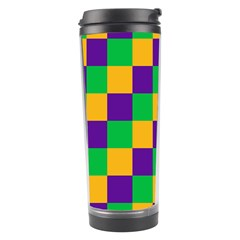 Mardi Gras Checkers Travel Tumbler by PhotoNOLA