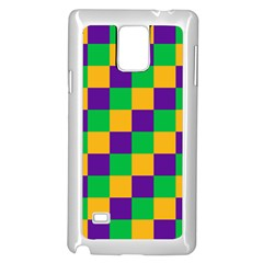 Mardi Gras Checkers Samsung Galaxy Note 4 Case (white) by PhotoNOLA