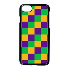 Mardi Gras Checkers Apple Iphone 7 Seamless Case (black) by PhotoNOLA