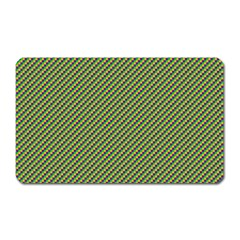 Mardi Gras Checker Boards Magnet (rectangular) by PhotoNOLA