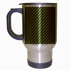 Mardi Gras Checker Boards Travel Mug (silver Gray) by PhotoNOLA