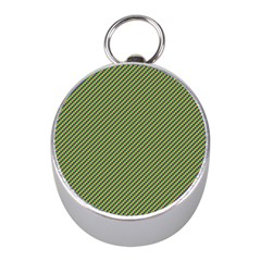 Mardi Gras Checker Boards Mini Silver Compasses by PhotoNOLA