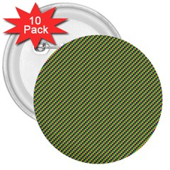 Mardi Gras Checker Boards 3  Buttons (10 Pack)  by PhotoNOLA