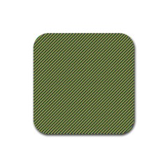 Mardi Gras Checker Boards Rubber Square Coaster (4 Pack)  by PhotoNOLA