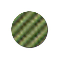 Mardi Gras Checker Boards Rubber Round Coaster (4 Pack)  by PhotoNOLA