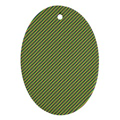 Mardi Gras Checker Boards Oval Ornament (two Sides) by PhotoNOLA