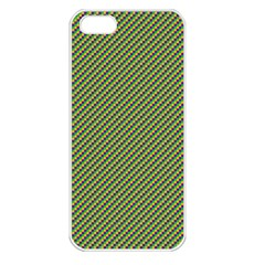 Mardi Gras Checker Boards Apple Iphone 5 Seamless Case (white)