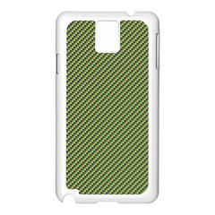 Mardi Gras Checker Boards Samsung Galaxy Note 3 N9005 Case (white) by PhotoNOLA