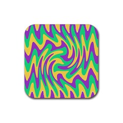 Mardi Gars Rubber Coaster (square)  by PhotoNOLA
