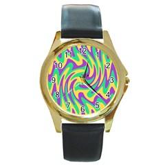 Mardi Gars Round Gold Metal Watch by PhotoNOLA