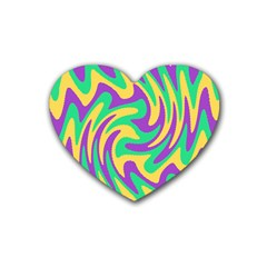 Mardi Gars Rubber Coaster (heart)  by PhotoNOLA
