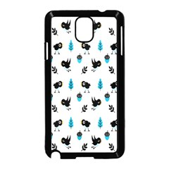 Bird Beans Leaf Black Blue Samsung Galaxy Note 3 Neo Hardshell Case (black) by Alisyart