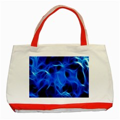 Blue Flame Light Black Classic Tote Bag (red) by Alisyart
