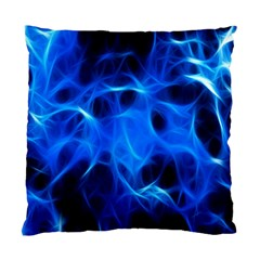 Blue Flame Light Black Standard Cushion Case (two Sides) by Alisyart