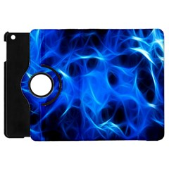 Blue Flame Light Black Apple Ipad Mini Flip 360 Case by Alisyart