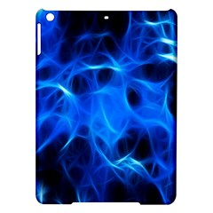Blue Flame Light Black Ipad Air Hardshell Cases by Alisyart