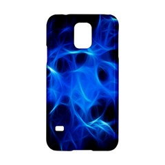 Blue Flame Light Black Samsung Galaxy S5 Hardshell Case  by Alisyart