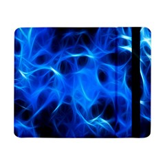 Blue Flame Light Black Samsung Galaxy Tab Pro 8 4  Flip Case by Alisyart