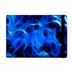 Blue Flame Light Black Ipad Mini 2 Flip Cases by Alisyart