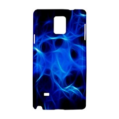Blue Flame Light Black Samsung Galaxy Note 4 Hardshell Case by Alisyart