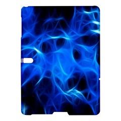 Blue Flame Light Black Samsung Galaxy Tab S (10 5 ) Hardshell Case  by Alisyart