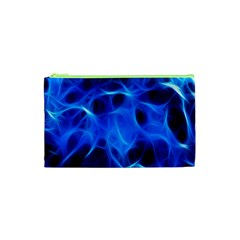 Blue Flame Light Black Cosmetic Bag (xs) by Alisyart