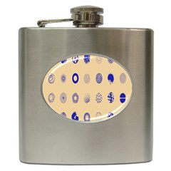 Art Prize Eight Sign Hip Flask (6 Oz) by Alisyart