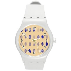 Art Prize Eight Sign Round Plastic Sport Watch (m) by Alisyart
