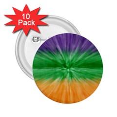 Mardi Gras Tie Die 2 25  Buttons (10 Pack)