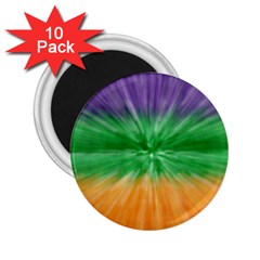 Mardi Gras Tie Die 2 25  Magnets (10 Pack)  by PhotoNOLA