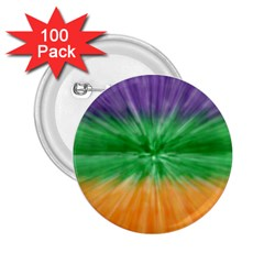 Mardi Gras Tie Die 2 25  Buttons (100 Pack)  by PhotoNOLA