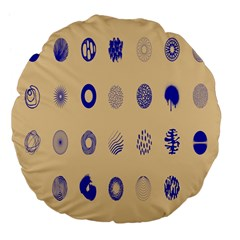 Art Prize Eight Sign Large 18  Premium Flano Round Cushions by Alisyart