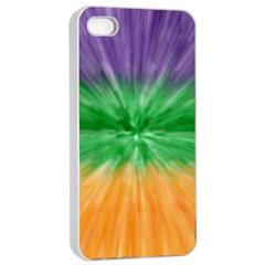 Mardi Gras Tie Die Apple Iphone 4/4s Seamless Case (white) by PhotoNOLA
